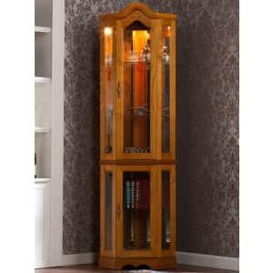 Southern Enterprises Priscilla Lighted Corner Curio Cabinet for $274
