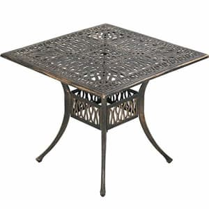 FDW Patio Dining Table Outdoor Dining Table Wrought Iron Patio Furniture Outdoor Table Patio Table for $202