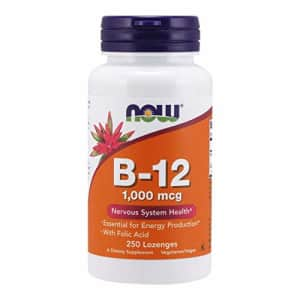 Now Foods NOW Supplements, Vitamin B-12 1,000 mcg with Folic Acid, Nervous System Health*, 250 Chewable for $15