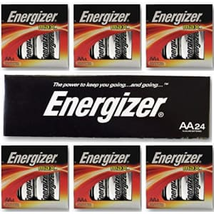 "Energizer AA Max Alkaline E91 LR6 1.5V Batteries ""In Original Box"" X 24 for $15"