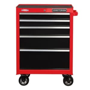 Craftsman 2000 Series 5-Drawer Steel Rolling Tool Cabinet for $229