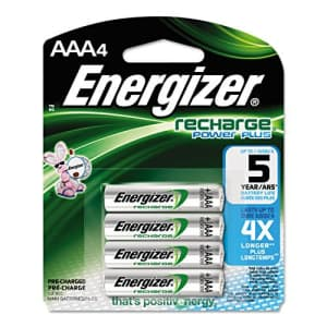 Eveready Energizer NH12BP4 Rechargeable NiMH Batteries, AAA Size, 4/PK for $14