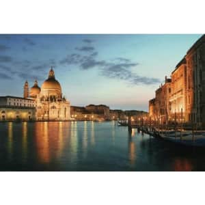 """Northlight LED Lighted Venice, Italy at Sunset 16"""" x 24"""" Canvas Wall Art for $17"""