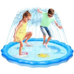 "Gladle 60"" Inflatable Splash Pad for $9"