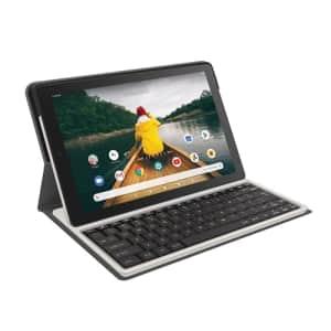 "RCA 10"" Quad-Core 2GB RAM 32GB Storage Touchscreen WiFi Bluetooth with Detachable Folio Keyboard for $110"