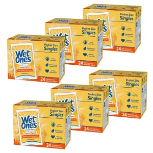 Wet Ones Antibacterial Hand Wipes 24 count 6-Pack for $15 via Sub & Save