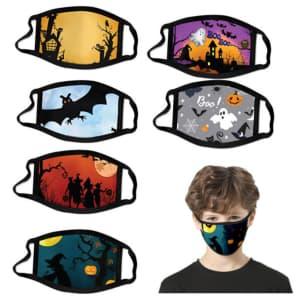 Kids' Halloween-Themed Reusable Face Mask 6-Pack for $10