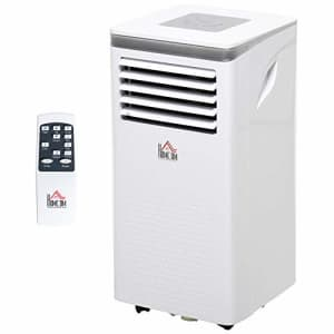 HOMCOM 7000 BTU Portable Mobile Air Conditioner for Cooling, Dehumidifying, and Ventilating with for $260