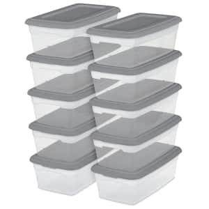Sterilite 6-Quart Storage Container 10-Pack for $9