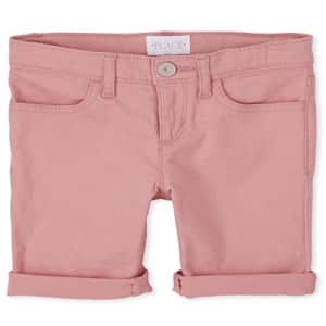 The Children's Place Girls' Slim Solid Skimmer Shorts, Tuscan Glow, 8S for $6