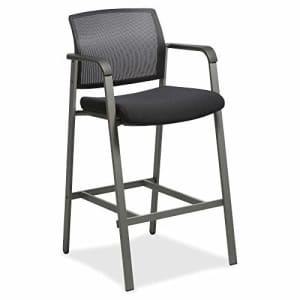 """Lorell Mesh Back Guest Sitting Stool, 42.9"""" x 23.6"""" x 22.9"""", Black for $100"""