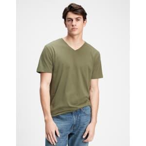 Gap Factory Men's Everyday V-Neck T-Shirt for $6
