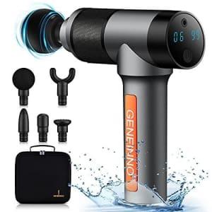 G Geneinno 1.6-lb. Waterproof Muscle Massage Gun w/ Pro Max Brushless Motor for $75