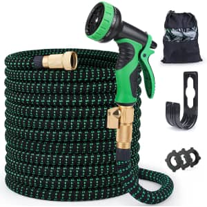 Furnizone 50-Foot Expandable Water Hose w/ Spray Nozzle for $14