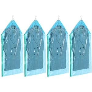 Taili Hanging Vacuum Storage Garment Bag 4-Pack for $10