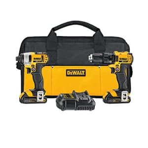 DEWALT 20V MAX Impact Driver and Drill Combo Kit (DCK280C2) for $308