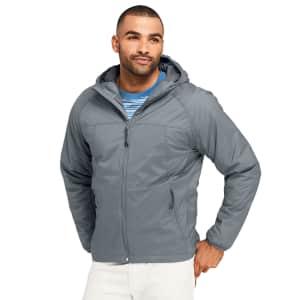 Lands' End Men's Stretch Packable Primaloft Insulated Hooded Jacket for $30