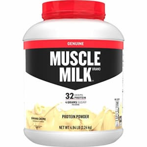 Muscle Milk Genuine Protein Powder, Banana Crme, 32g Protein, 4.94 Pound, 32 Servings for $54