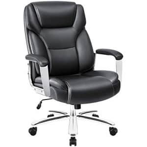 Homall Big and Tall Office Desk High Back Executive Computer Task Swivel Adjustable Leather for $155