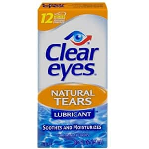 Clear Eyes Natural Tears Lubricant Eye Drops for $5