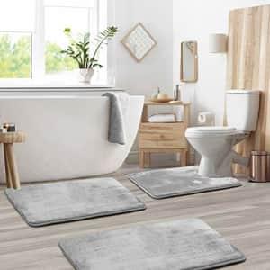 Clara Clark Memory Foam Bath Mat Sets 3 Piece - Non Slip, Absorbent, Soft Bath Rug Set - Fast for $38