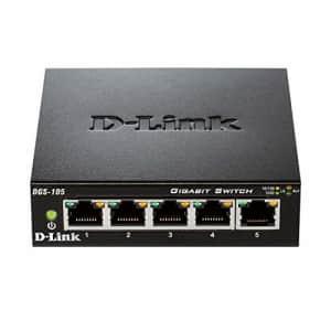 D-Link Ethernet Switch, 5 Port Gigabit Unmanaged Metal Desktop Plug and Play Compact (DGS-105) for $45