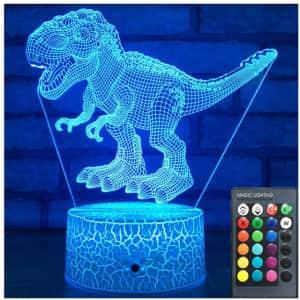 Dinosaur 3D Night Light for $21