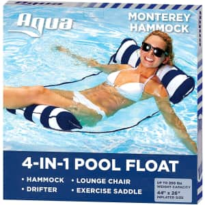 Aqua Leisure 4-in-1 Monterey Hammock Inflatable Pool Float for $15