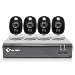 Swann Hardwired Wired Outdoor Security Camera 4-Pack for $200