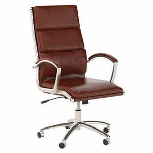 Bush Furniture Bush Business Furniture Studio C High Back Executive Office Chair, Harvest Cherry Leather for $542