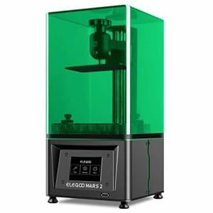 ELEGOO Mars 2 3D Printer, MSLA UV Photocuring LCD 3D Printer, Front USB Port, 2K Monochrome LCD for $192