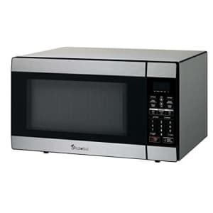 Magic Chef 1.8 Cu. Ft. 1100W Countertop Microwave Oven in Stainless Steel, Silver for $154