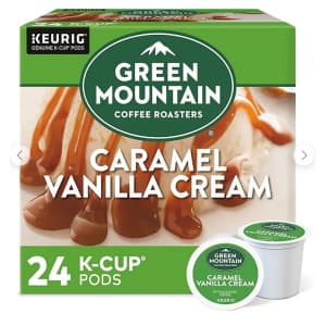 Green Mountain Coffee Caramel Vanilla Cream K-Cup Pods 24-Pack for $11