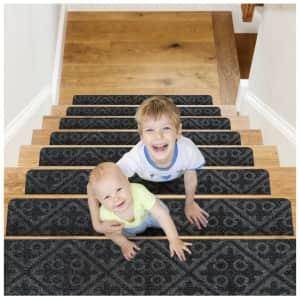 CrystalMX Non-Slip Carpet Stair Treads 15-Pack for $34