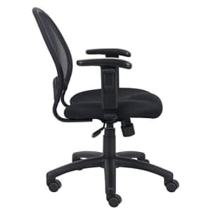 Boss Office Products Mesh Task Chair with Adjustable Arms in Black for $219