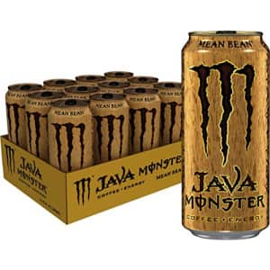 Monster Energy Java Monster Mean Bean, Coffee + Energy Drink, 15 Ounce (Pack of 12) for $43