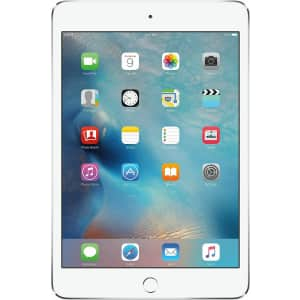"Apple iPad mini 4 7.9"" 16GB WiFi + Cellular Tablet (2015) for $210"