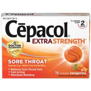 Cepacol Extra Strength Sore Throat & Cough Drop Lozenges 16-Count 4-Pack for $10