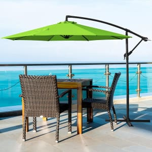 Deponel 10-Foot Offset Patio Umbrella from $60