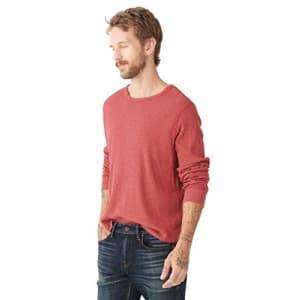 Lucky Brand Men's Long Sleeve Crew NeckThermal Shirt, Red, M for $22