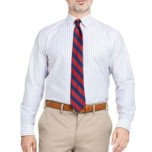 Lands' End Men's Traditional Fit Pattern No Iron Supima Oxford Dress Shirt for $13