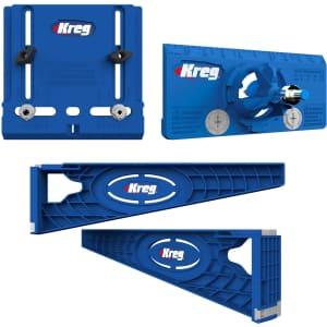 Kreg Drawer Slide Jig with Cabinet Hardware Jig and Concealed Hinge Jig Set for $63