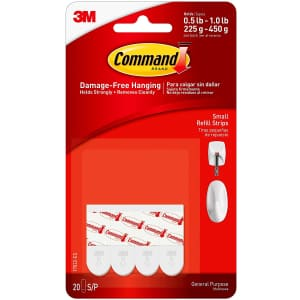 3M Command Small Refill Strip 20-Pack for $5