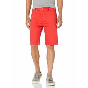 LRG Lifted Research Group Men's Denim Shorts, Lollipop, 40 for $17