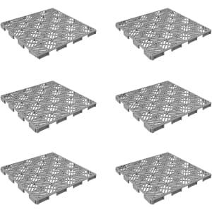 Pure Garden 11x11-Foot Interlocking Floor Tiles 6-Pack for $15