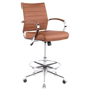 EdgeMod Tremaine Drafting Chair in Vegan Leather, Terracotta for $250