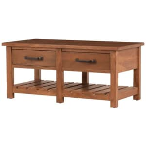 """Home Decorators Collection Danforth 42"""" 2-Drawer Wood Coffee Table for $299"""