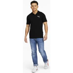 PUMA Men's Essentials Jersey Polo for $9