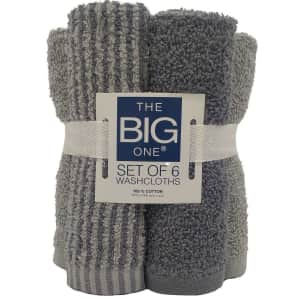 The Big One Washcloth 6-Pack for $4