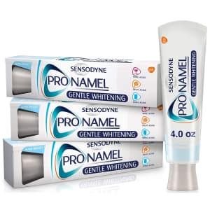 Sensodyne Pronamel Gentle Whitening 4-oz. Toothpaste 3-Pack for $11